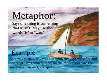 Figurative Language Posters - Nautical/Beach | Writing ...