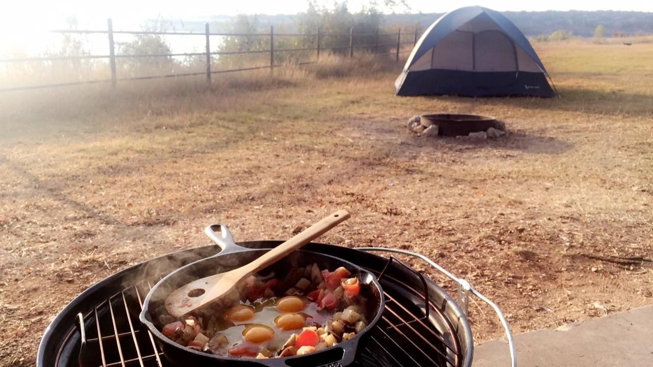 Camping at Jim Hogg Park in Georgetown TX. #breakfast # ...