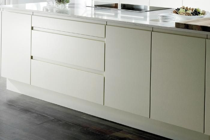 Handleless Kitchen in a matt finish Kitchen and Bedroom Store