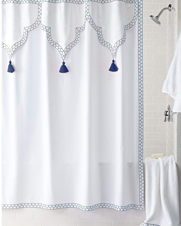 John Robshaw Iswar Shower Curtain Fabric Shower Curtains Shower