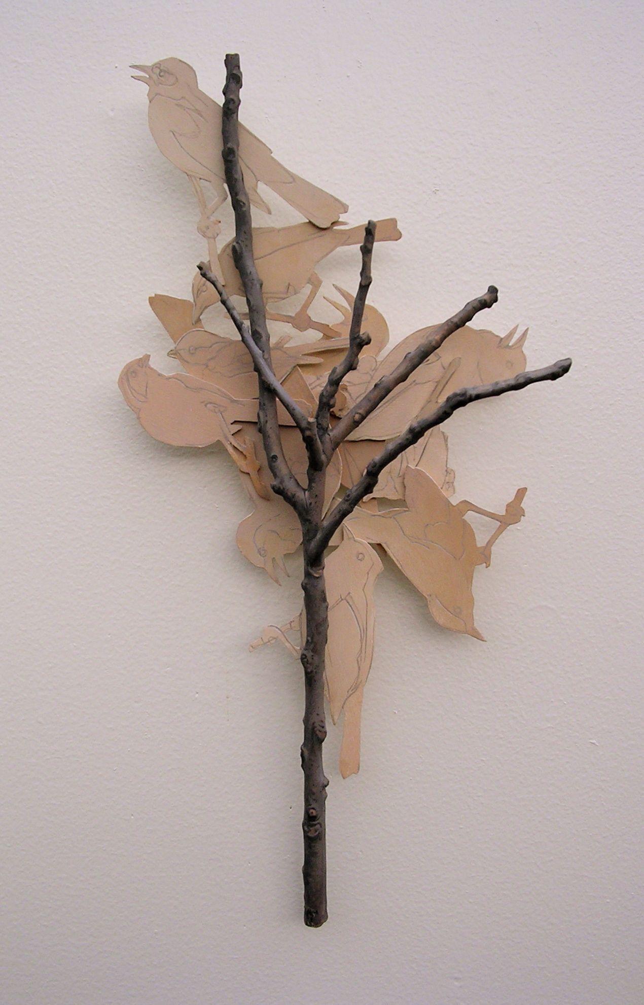 "Ron Isaacs, ""Bird Tree,"" 2009; acrylic on birch plywood construction"