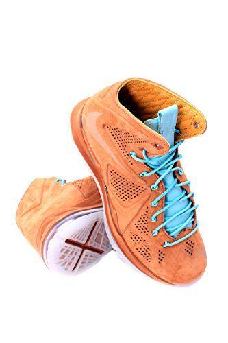 Nike Mens Lebron X EXT QS Hazelnut Suede Basketball Shoes