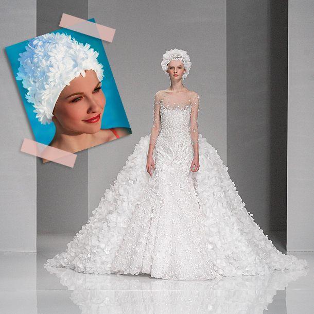 Haute Couture 2015 in Paris: Die Braut trägt Badekappe – und mehr verrückte Trends