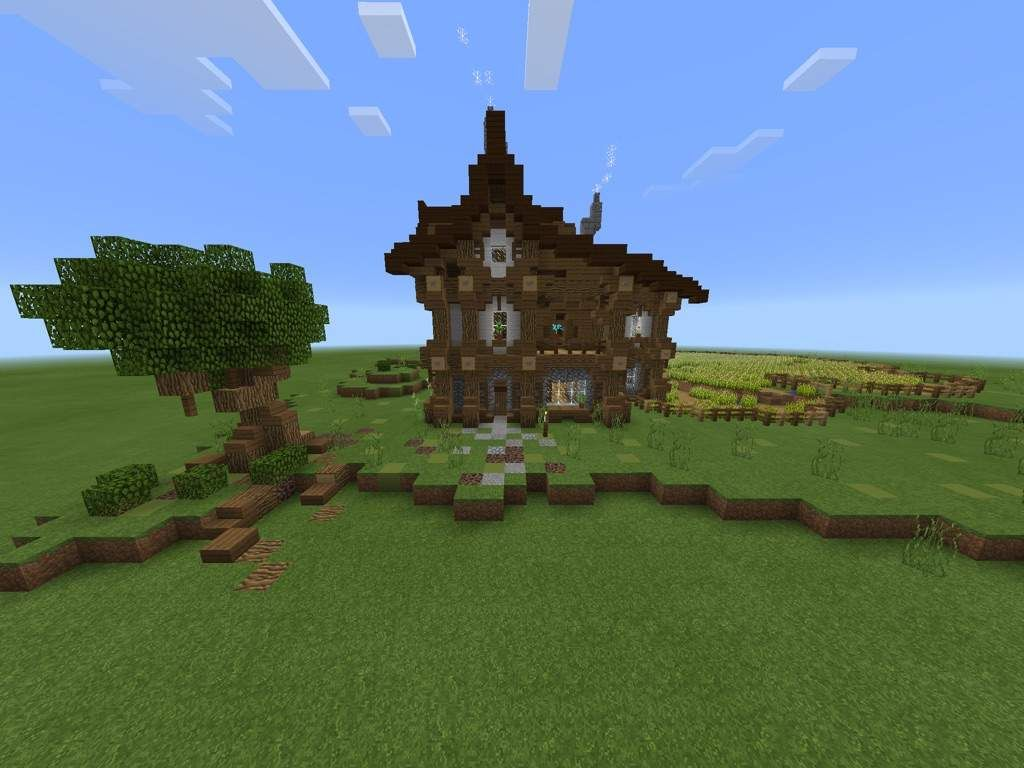 Image Result For Minecraft Medieval Farmhouse Minecraft House