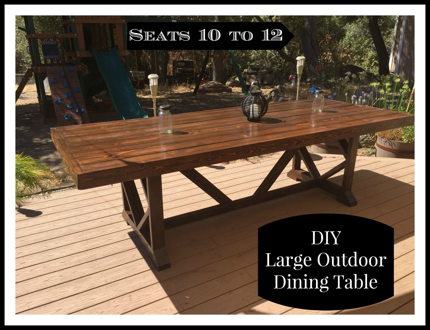 DIY Large Outdoor Dining Table