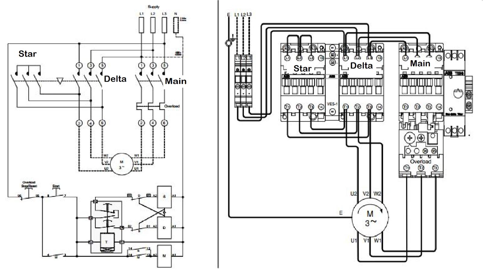 Wye Delta Motor Wiring Diagram On Wiring Diagram Star