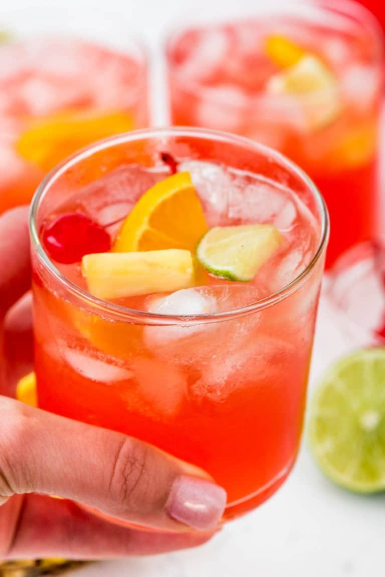 Fruity Vodka Party Punch Crazy For Crust Recipe Strawberry Limeade Strawberry Drinks Gin And Juice Drink
