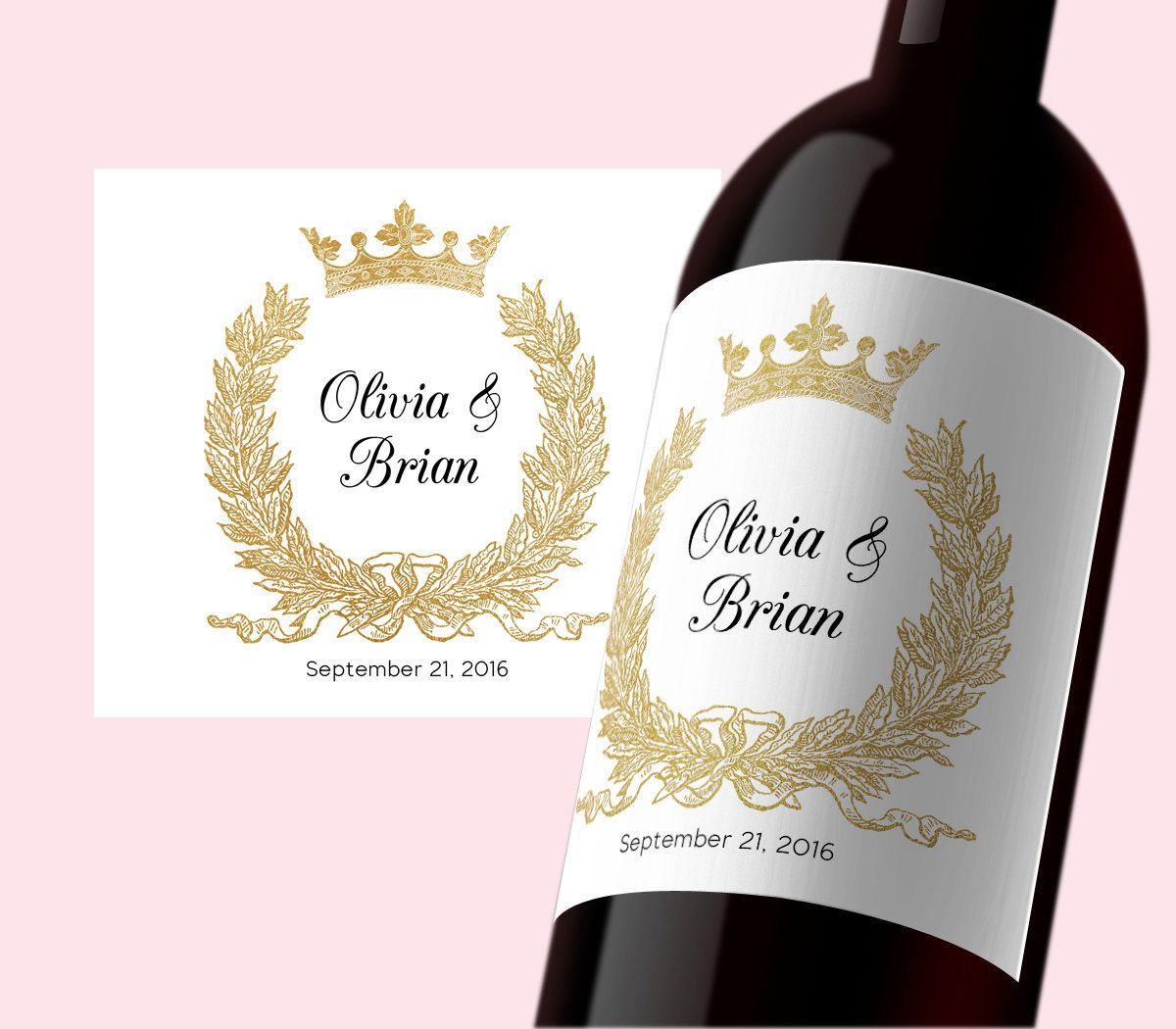 Pdf Template 3 5x4 Editable Wine Label Instant Download Wedding