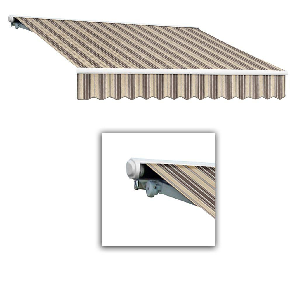 Awntech 16 Ft Galveston Semi Cassette Manual Retractable Awning 120 In Projection In Brown Retractable Awning Galveston Remote