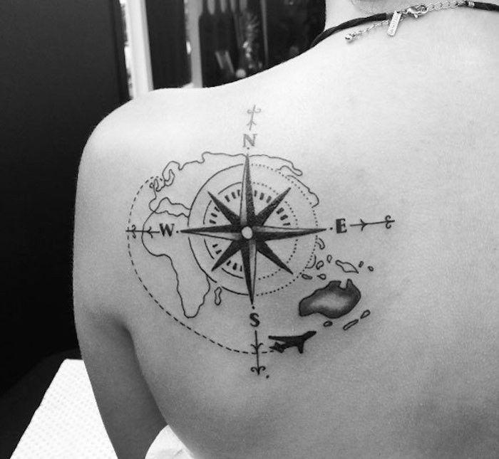1001 id es tatoo tattoo and tatoos - Tatouage rose des vents ...
