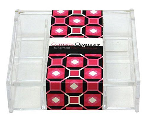 Signature Home Acrylic Clear Organizer Square Shaped 12Section Cosmetic and Jewelry Organizer with Lid 14 Ounce ** You can get more details by clicking on the image. Note:It is Affiliate Link to Amazon.