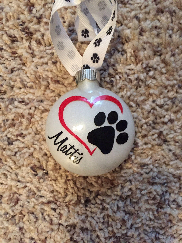 Custom dog/cat ornament by FurbabieDesign on Etsy Paw