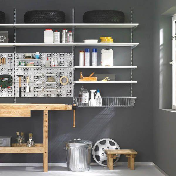 kellerregal garagenregal regale f r keller garage vorratskammer pinterest garage. Black Bedroom Furniture Sets. Home Design Ideas