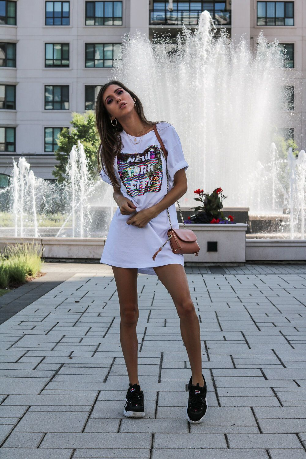 2 Ways To Wear The Oversized T Shirt Dress 20 Badass T Shirt Dresses You Need To Style Asap The Hungarian Brunette Sequin T Shirt Dress Tshirt Outfits Fashion [ 1500 x 1000 Pixel ]