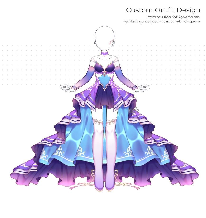 C Ryverwren By Black Quose Anime Outfits Fantasy Clothing Character Outfits