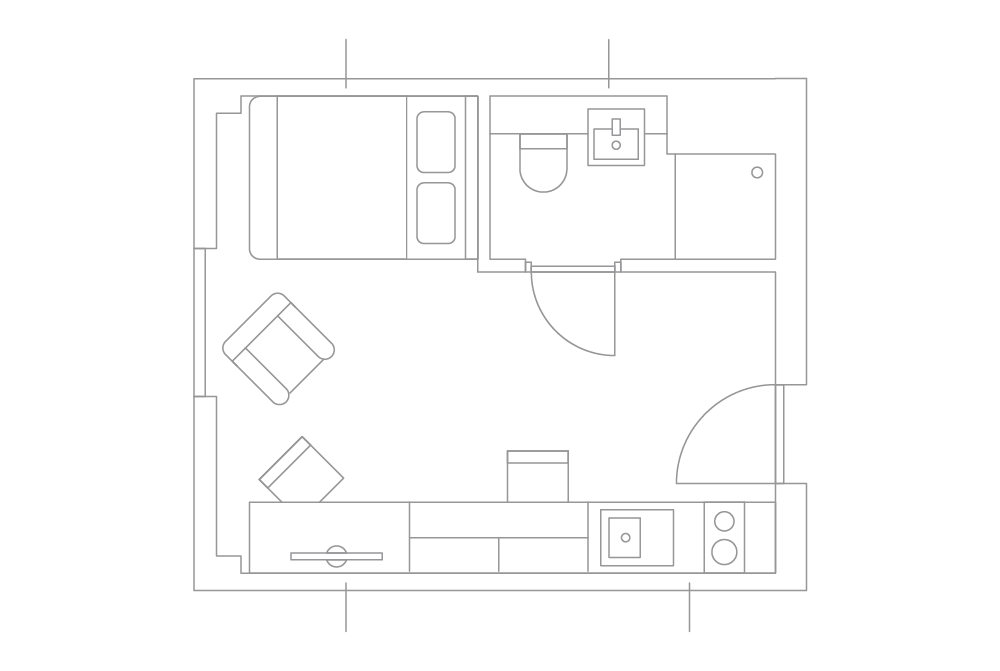 See Inside A Smart Student Apartment The Edge All Inclusive Iconinc Student Apartment Student Room Micro Apartment