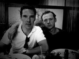 Benedict Cumberbatch and Simon Pegg