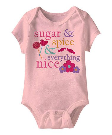Look at this #zulilyfind! Light Pink 'Sugar & Spice' Bodysuit - Infant by Happy Soul #zulilyfinds