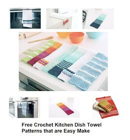 Free Crochet Kitchen Dish Towel Patterns that are Easy to Make #dishtowels