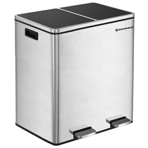 Best Dual Trash Cans Recyclers With Double Compartments Trash Can Recycle Trash Trash Containers Trash can with recycling compartment