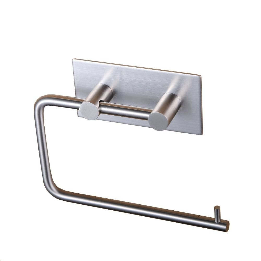 Self Adhesive SUS 304 Stainless Steel Toilet Paper Towel Holder ...