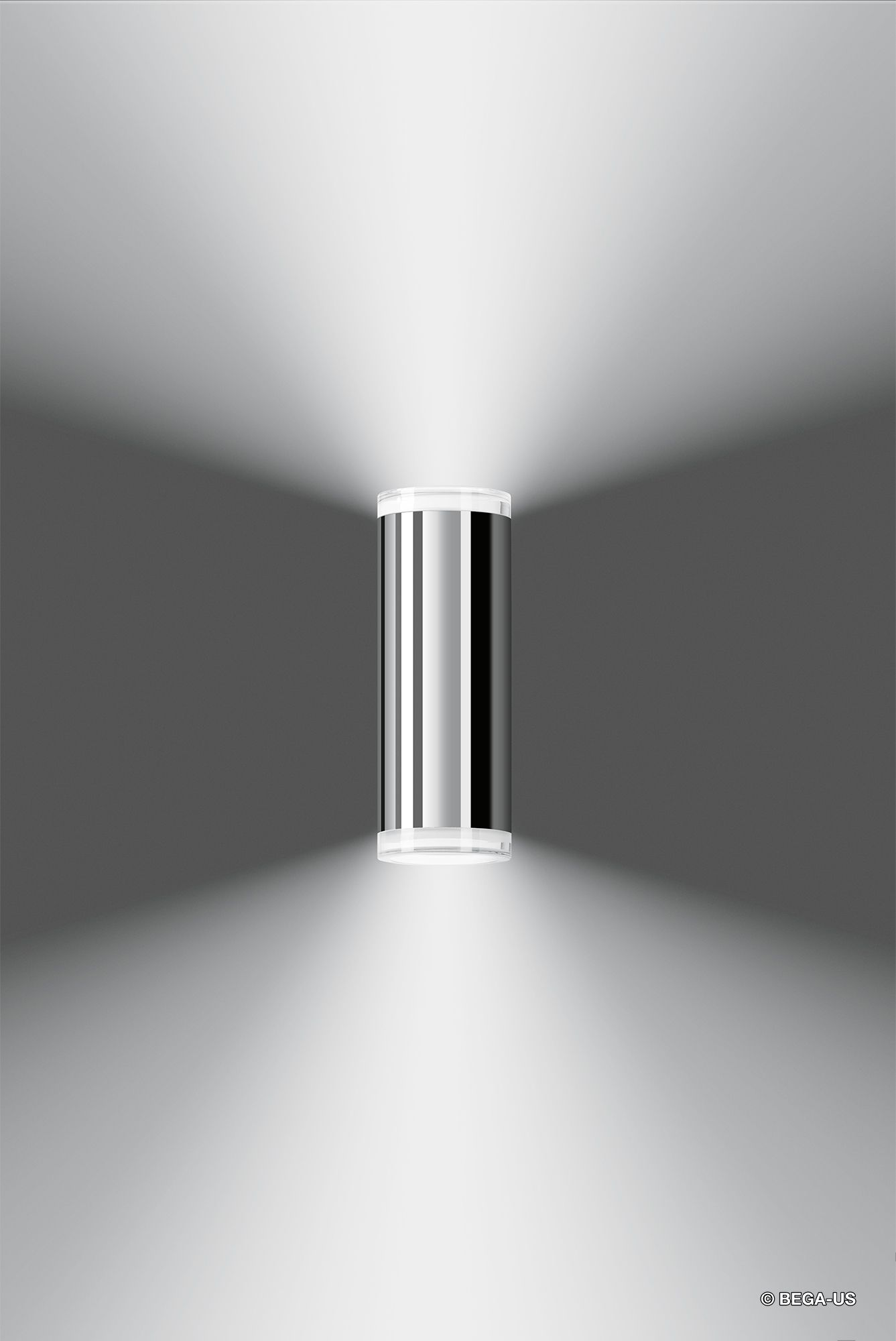 Surface Wall W Up And Down Lighting Wall Mounted Led And Metal Halide Cylinder Luminaires With A Symmetrical Up