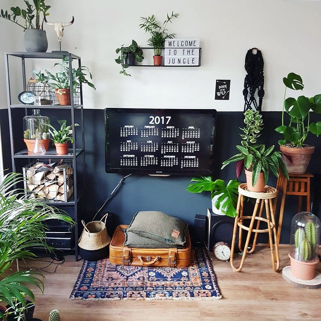 jungle themed living room jungle living room ideas boho plants deco vtwonen 13969