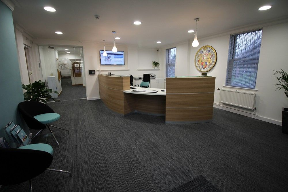 accent office interiors. easilume led downlights and flat panels were selected installed by accent office interiors for