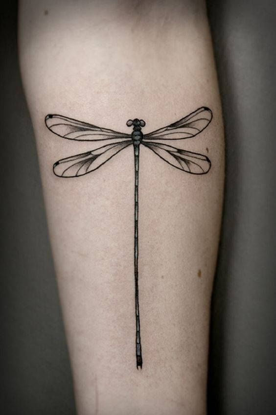 e8546c8c889ac Black And Grey Dragonfly Tattoo On Forearm | butterfly tattoos ...