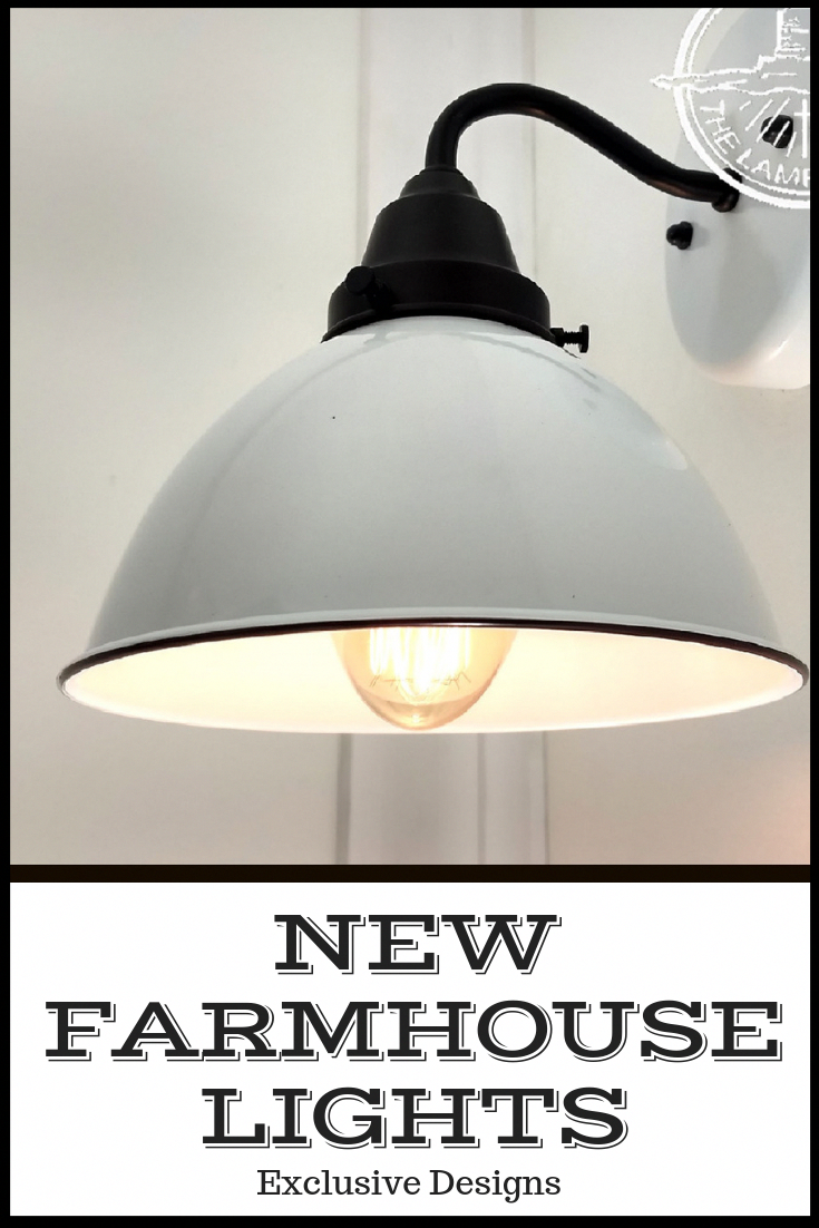 Photo of White Enamel Wall SCONCE Farmhouse Lighting