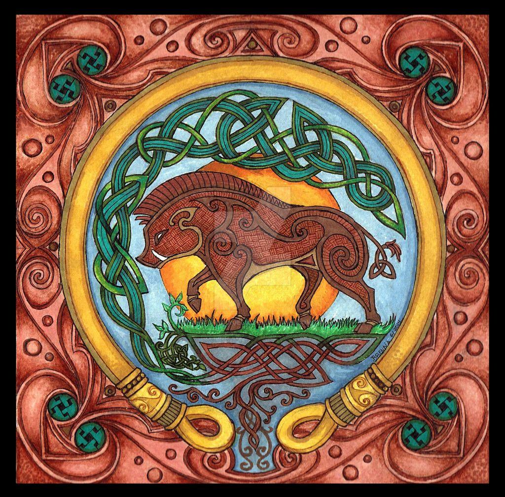 Celtic Totem: Boar by Stormangel13   mi rincón celta   Pinterest   Celta