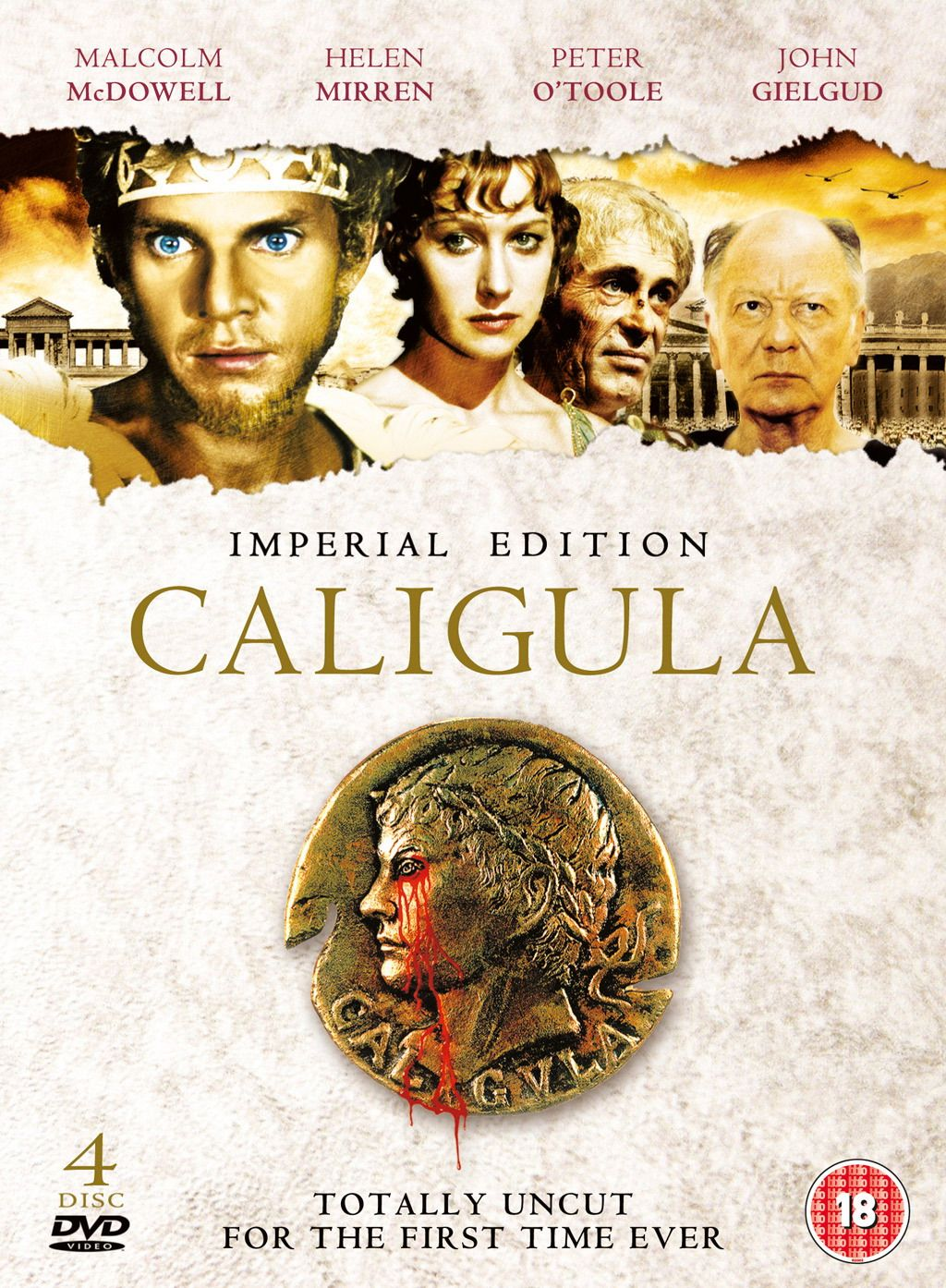 Caligula Directed By Tinto Brass Screenplay By Gore Vidal Starring Malcolm Mcdowell And Peter Otoole Objections For Violence Nudity Perversion