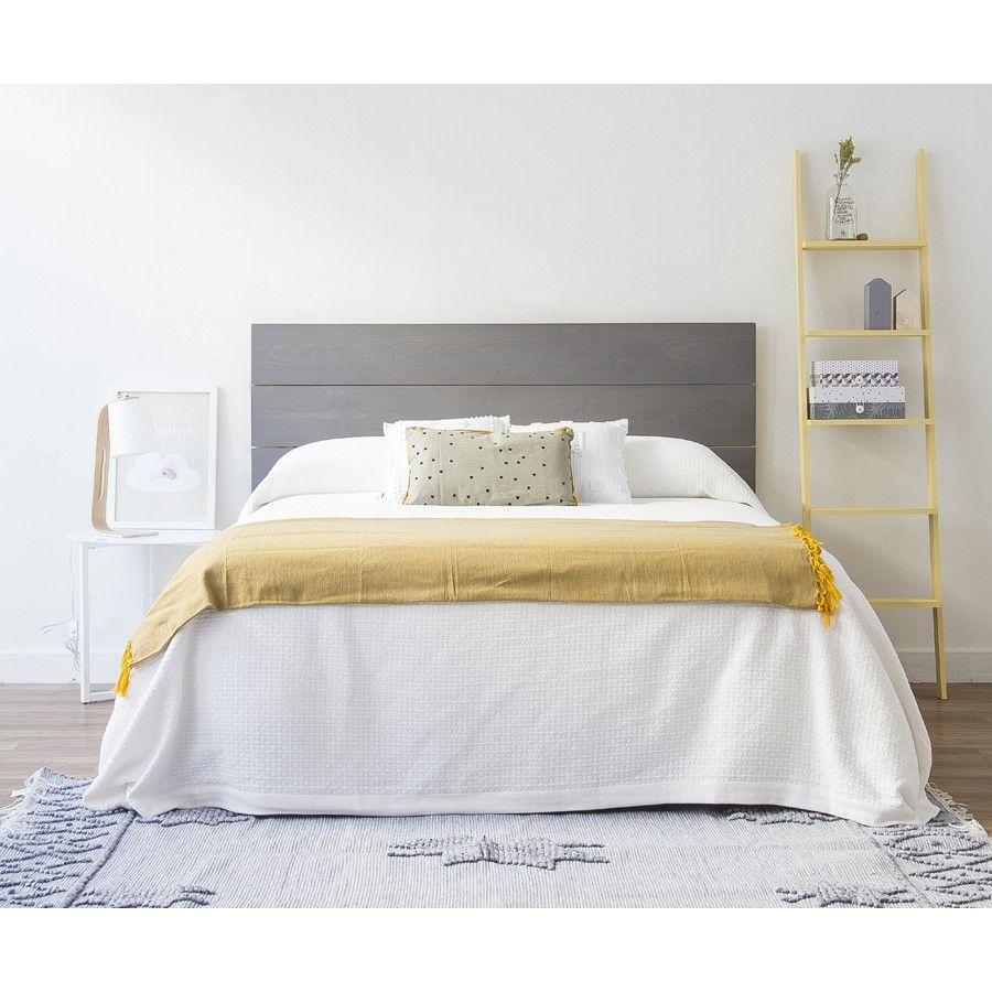 Nyssel cabecero gris dormitorios cabeceras de madera - Cabeceros de cama de madera ...