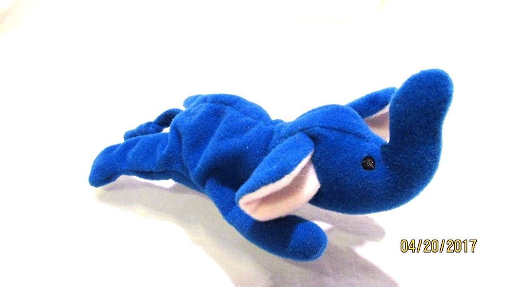 TY McDonalds Teenie Beanie Baby Peanut the Royal Blue Elephant 2000 Pellets   Ty fc3d93ce7681