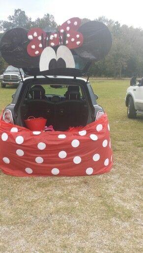 Trunk or Treat  Minnie Mini #trunkortreatideasforcarsforchurch