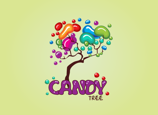 candy tree kids logo design graphic � design