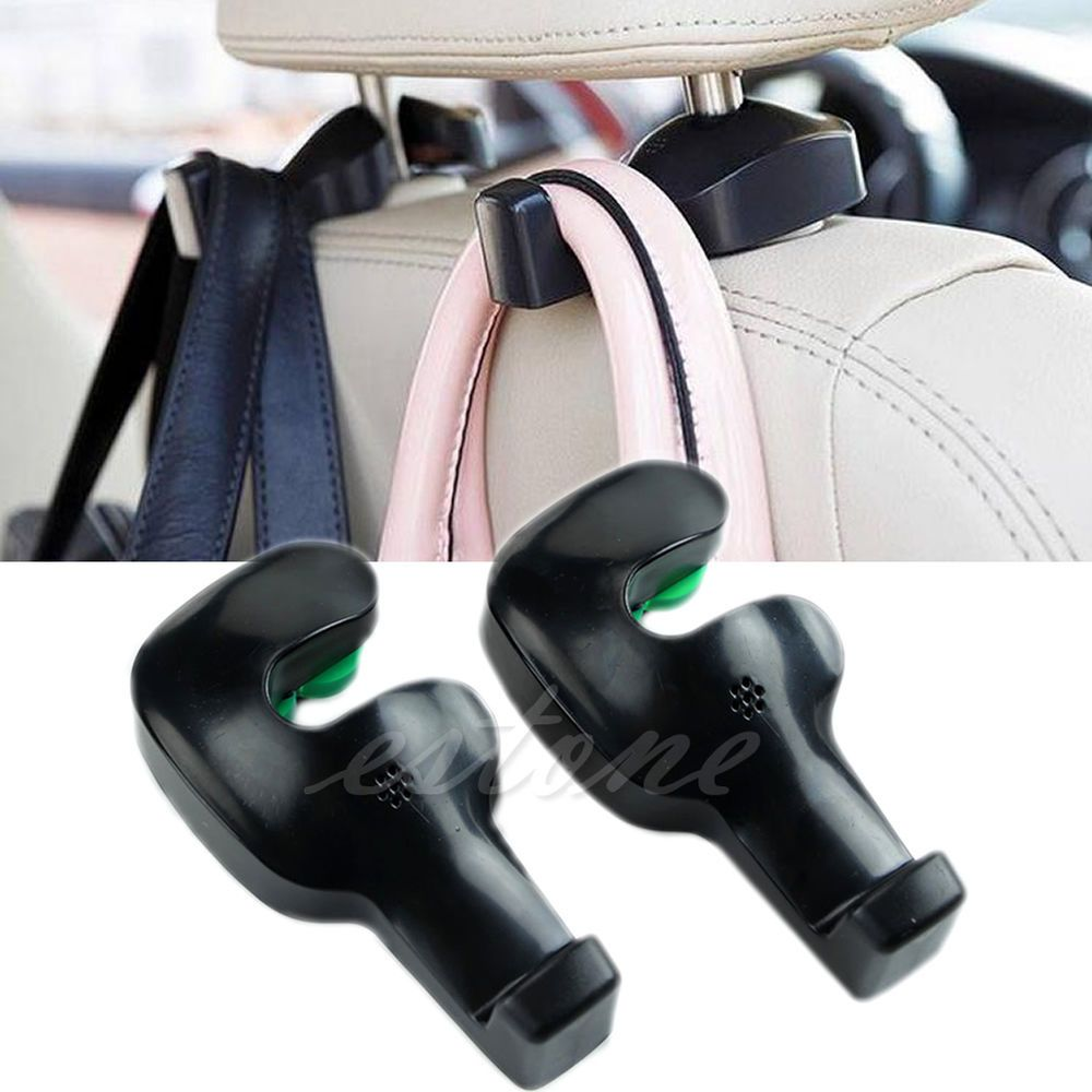 2PCS Convenient Auto Car Vehicle Seat Hanger Holder Hook Bag Coat Organizer