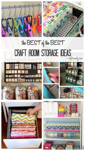 10 Craft Storage Ideas On A Budget Craft Organizing Pinterest