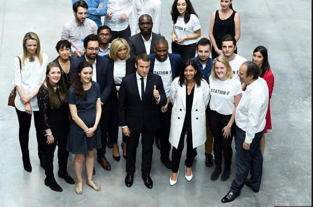 Station F inauguré par Emmanuel Macron (avec images