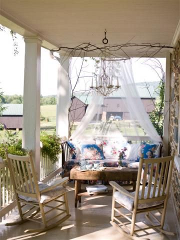 pretty cozy porch love how it feels like a whole other room - Pretty Porches And Patios