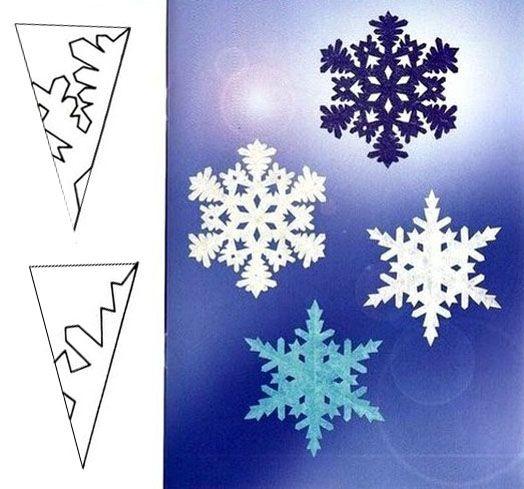 Как сделать красивые новогодние снежинки 636