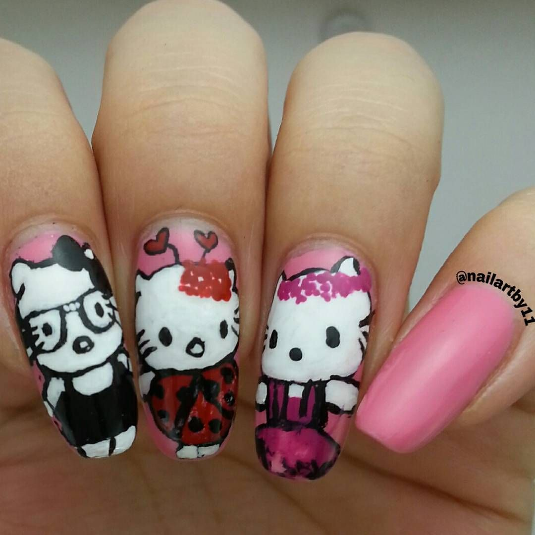 "Just Some Things I Like — @nailartby11 on Instagram: ""Hello Kitty..."