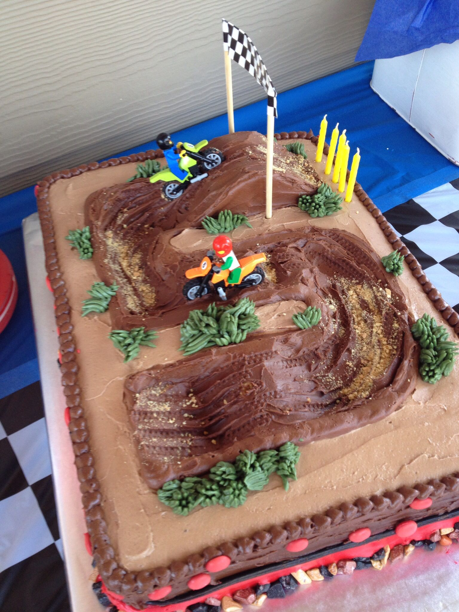 Kuchen Party Love The Tire Track Details Motocross Party