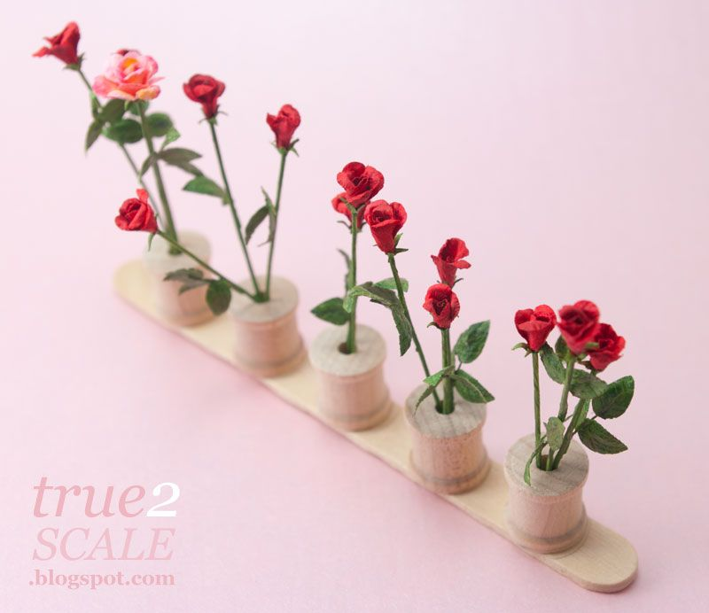 Miniature Roses Tutorial Rose Tutorial Dollhouse Miniature