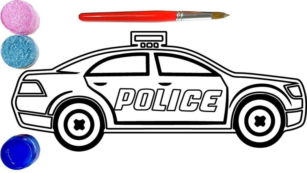 Como Desenhar E Colorir Carro Da Policia Desenho E Colorir Para