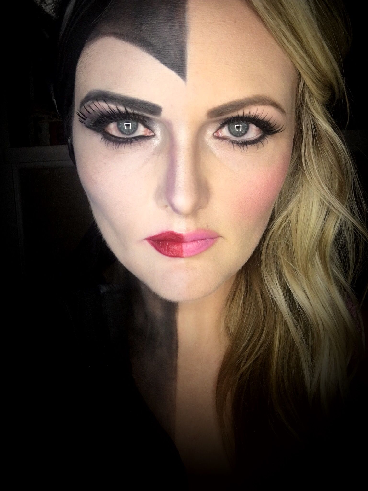 """""""It is our choices that determine who we really are."""" -Princess Aurora, Sleeping Beauty #splitpersonalities #makeupbylacee #LimeLightByAlcone I have more to come! Feel free to share."""