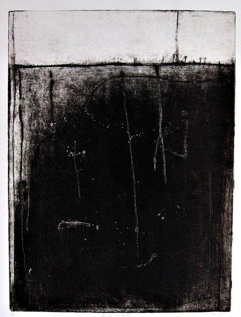 "The Soft Earth Beneath (Etching,aquatint  25x36"") / by betheljohn"