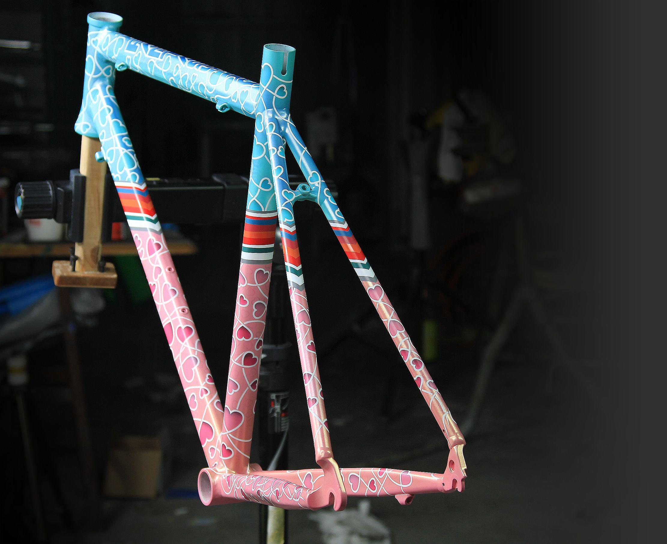 Bike Custom Painting Art Bicycle Painting Bicycle Paint Job