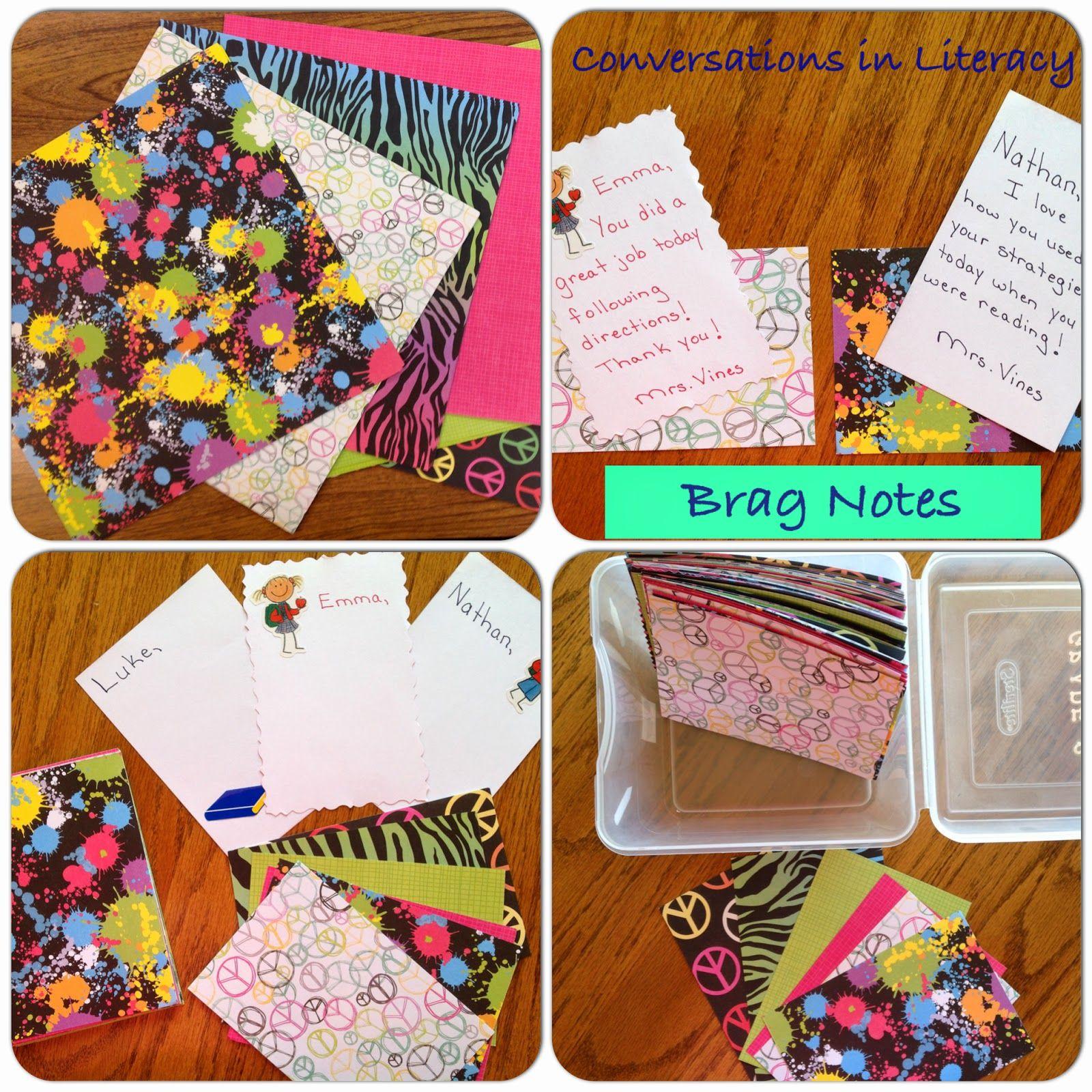 Parent Communication:  Brag Notes