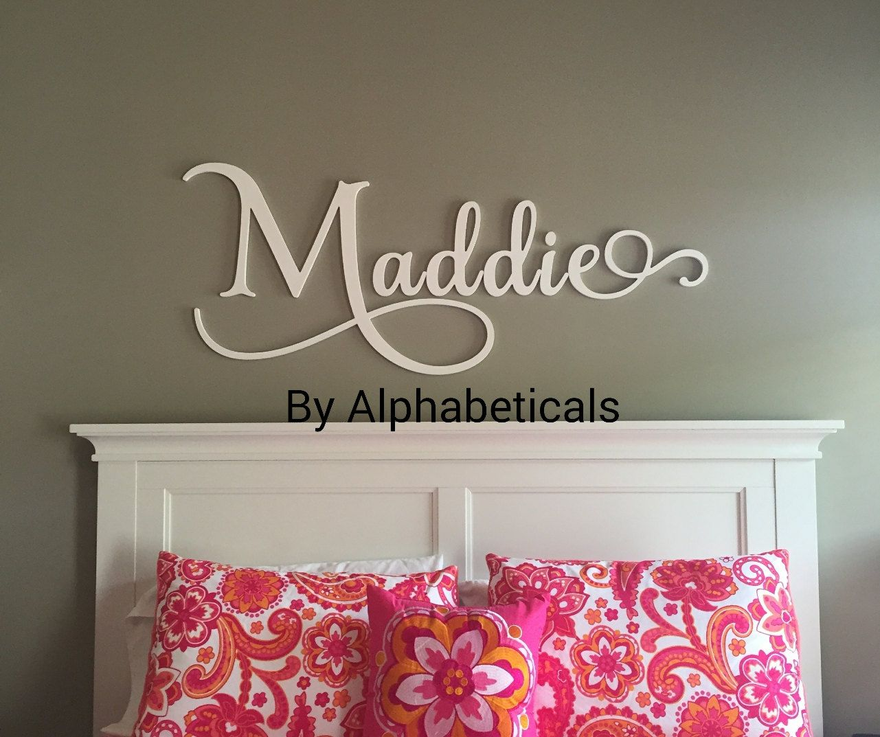 Wooden Letters For Nursery Wall Decor By Alphabeticals